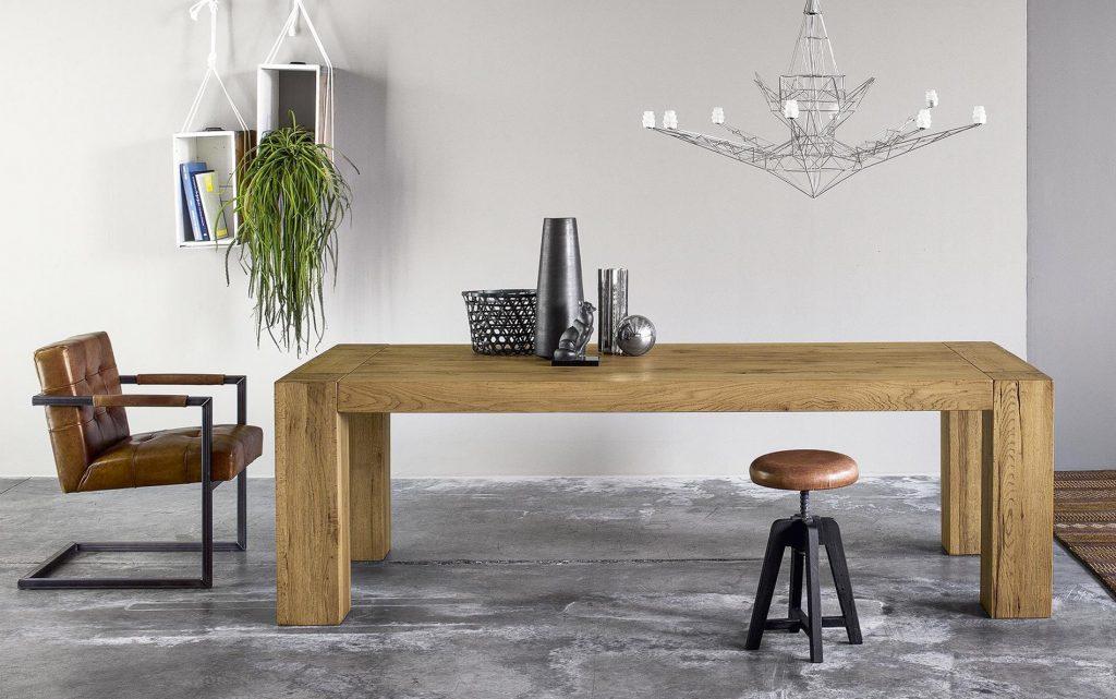 mesa patas madera gruesas
