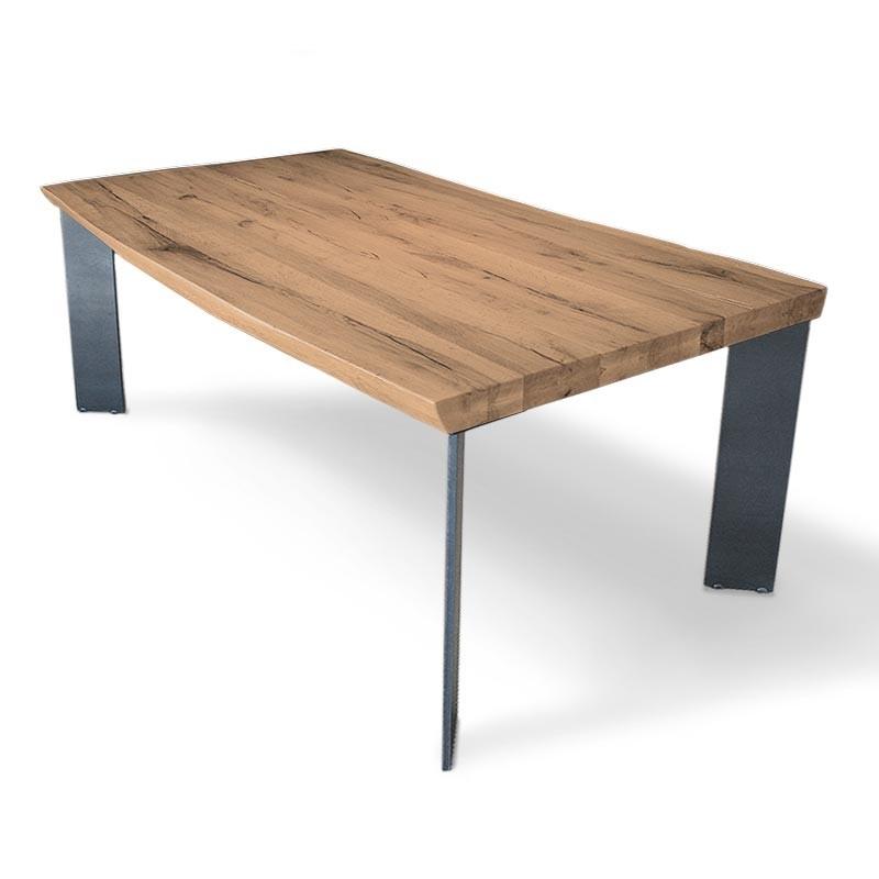tabla sobre de madera macizo y patas de hierro natural de promocin
